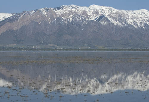 Great Salt Lake and Wellsville Mountains