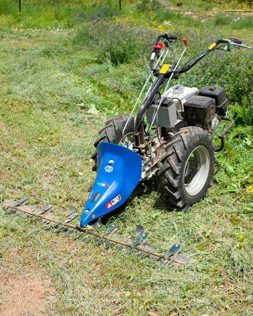 """Grillo G107D walking tractor with BCS 58"""" dual action cutter bar"""